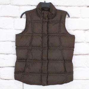 Eddie Bauer Down Brown Vest Size M